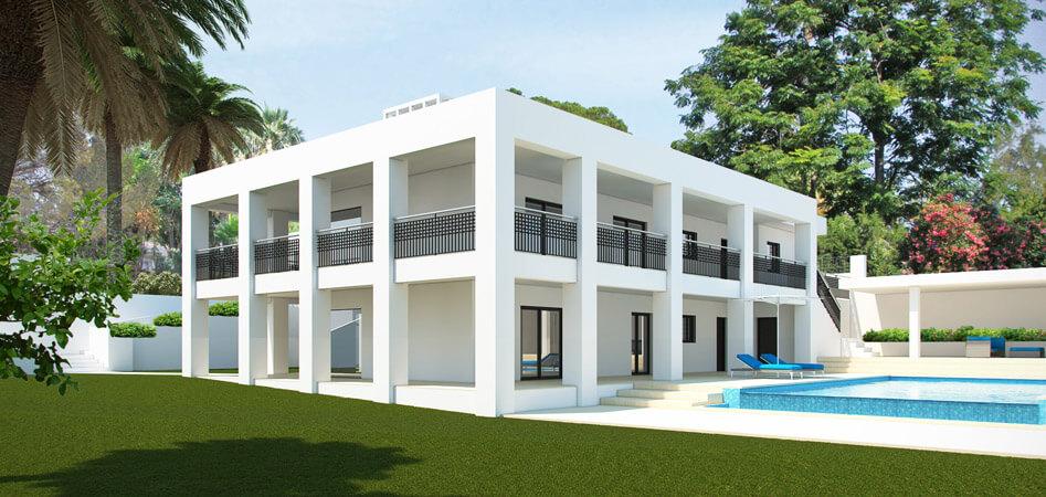 Neo-Koloniale Moderne Villa, Las Brisas